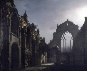 940px-The_Ruins_of_Holyrood_Chapel_(Louis_Daguerre),_1824_(Google_Art_Project)